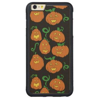 Happy Halloween Pumpkins Carved Maple iPhone 6 Plus Bumper Case