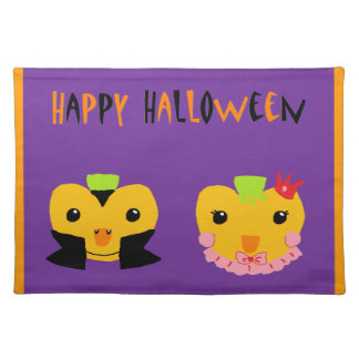 Happy Halloween Pumpkins Cloth Placemat