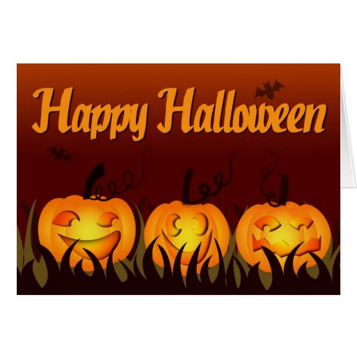 Happy Halloween - Pumpkins Greeting Card  Zazzle