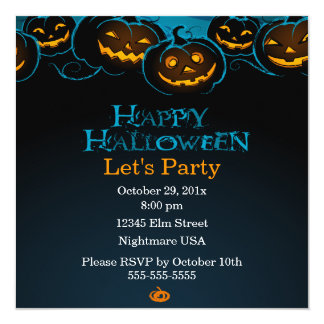 Happy Halloween Pumpkins Invitation