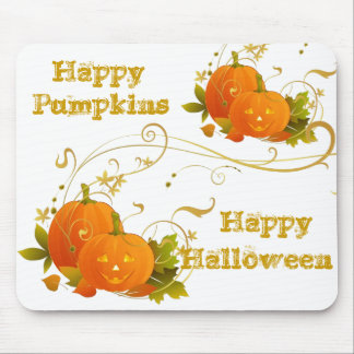 Happy Halloween Pumpkins Mouse Pad