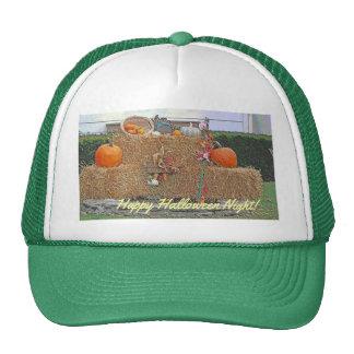 Happy Halloween Pumpkins on Hay Trucker Hat