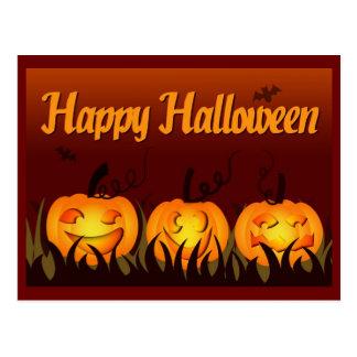 Happy Halloween - Pumpkins Postcard