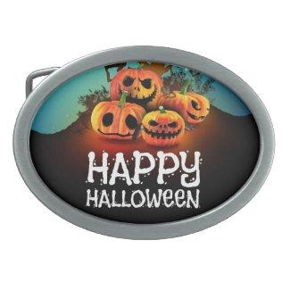 Happy halloween! Pumpkins to under to creepy tree! Belt Buckles