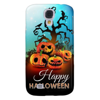 Happy Halloween! Pumpkins to under to creepy tree! Galaxy S4 Cover