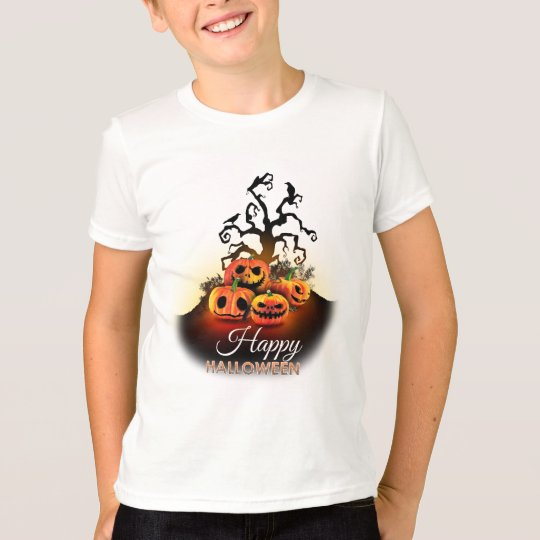 Happy Halloween! Pumpkins to under to creepy tree! T-Shirt