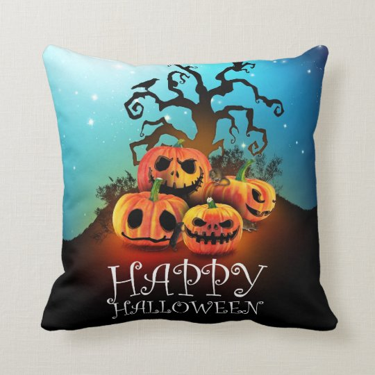 Happy Halloween Pumpkins To Under To Creepy Tree Throw