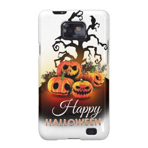 Happy Halloween! Pumpkins under a creepy tree! Samsung Galaxy S2 Carcasa