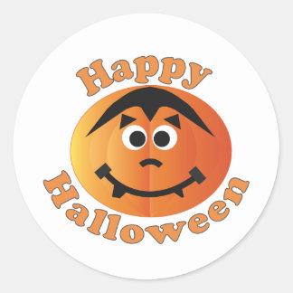 Happy Halloween Punkin Round Sticker