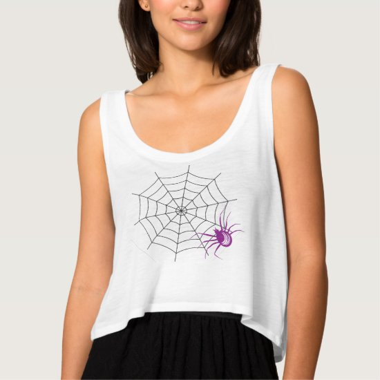 Happy Halloween, Purple Spider, Spiderweb Shirt