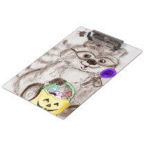 Happy Halloween Raccoon Clipboard