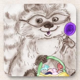 Happy Halloween Raccoon Coaster