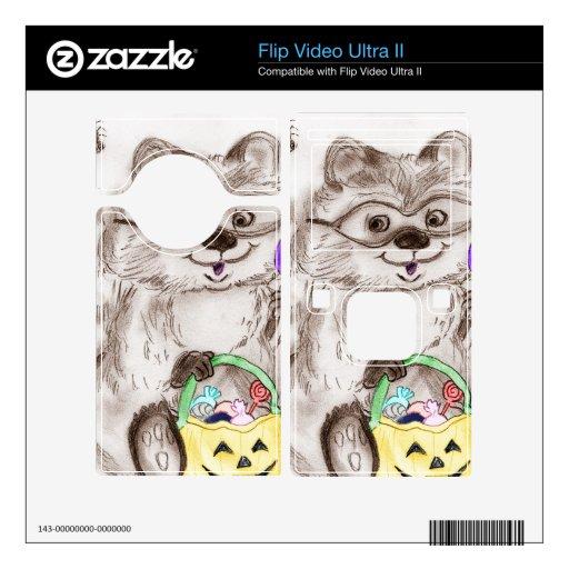 Happy Halloween Raccoon Decals For Flip Ultra II