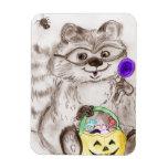 Happy Halloween Raccoon Flexible Magnet