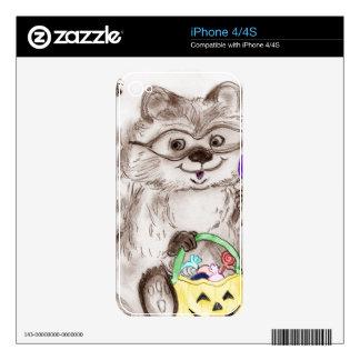Happy Halloween Raccoon Skin For The iPhone 4