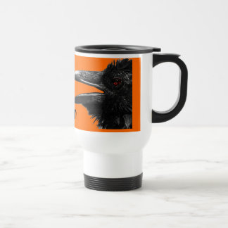happy halloween raven mug