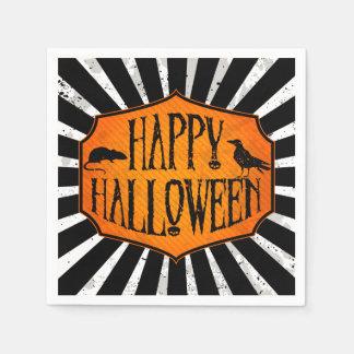 Happy Halloween Raven & Rat Paper Party Napkins Standard Cocktail Napkin