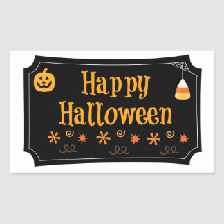 Happy Halloween Rectangular Sticker