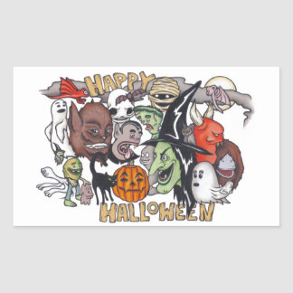 Happy Halloween! Rectangular Sticker