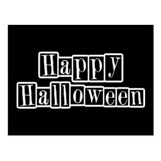 Happy Halloween Retro Blocks Postcard