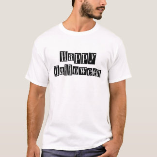 Happy Halloween Retro Blocks T-Shirt