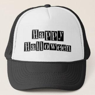 Happy Halloween Retro Blocks Trucker Hat