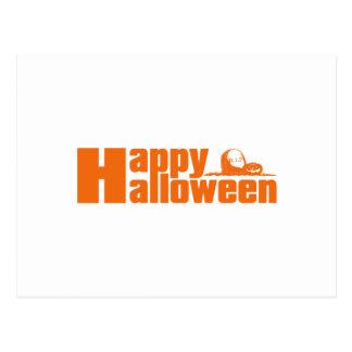 Happy Halloween RIP Pumpkin Postcard