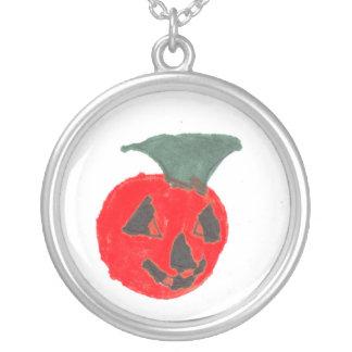 Happy Halloween Round Pendant Necklace