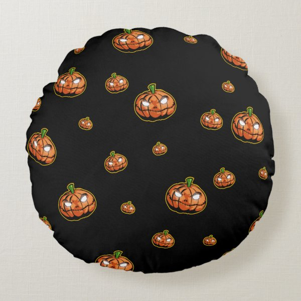 Happy Halloween Round Pillow