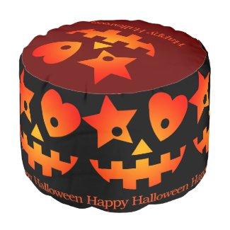 Happy Halloween Round Pouf