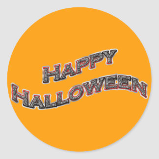 Happy Halloween Round Stickers