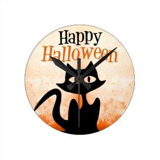 Happy Halloween Round Wall Clock
