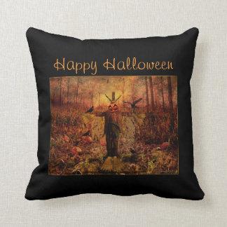 Happy Halloween Scarecrow Decorative Pillow