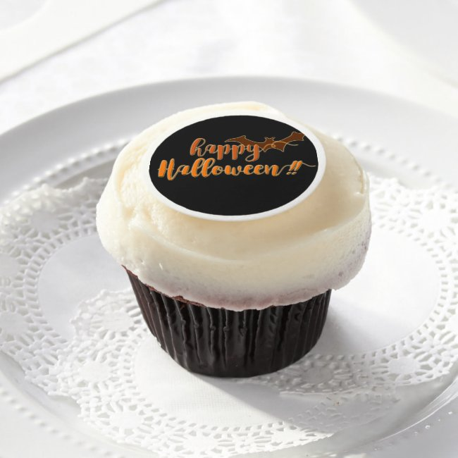 Happy Halloween - Scary Bat Edible Frosting Sheets