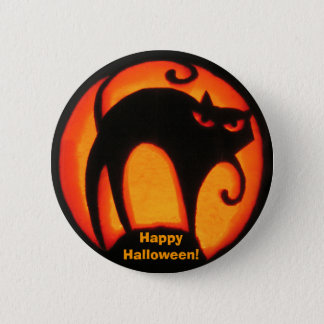 Happy Halloween Scary Cat! Button