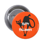 Happy Halloween Scary Cat Button