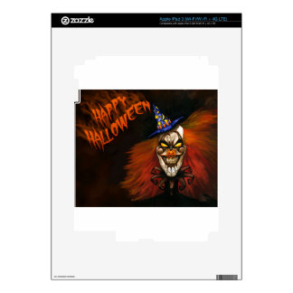 Happy Halloween Scary Clown Decals For iPad 3