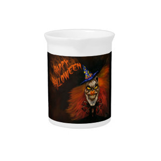 Happy Halloween Scary Clown Drink Pitcher