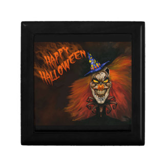 Happy Halloween Scary Clown Jewelry Box