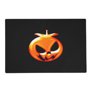 Happy Halloween Scary & Cute Orange Pumpkin Placemat