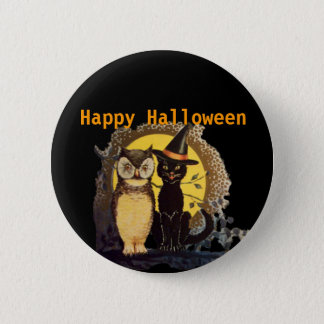 Happy Halloween Scary Pinback Button