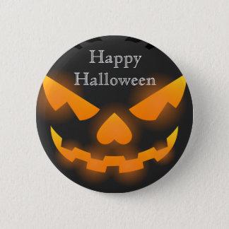 Happy Halloween Scary Pumpkin Pinback Button