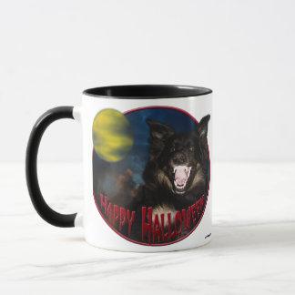 Happy Halloween Scary Wolf Mug