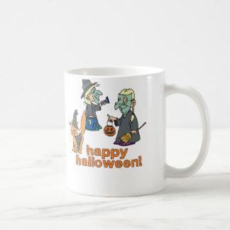 Happy Halloween Scene Coffee Mugs