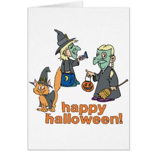 Happy Halloween Scene Greeting Cards