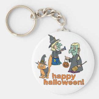 Happy Halloween Scene Keychain