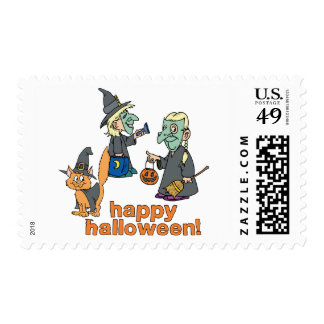 Happy Halloween Scene Stamp