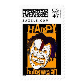 happy halloween : schmile! : postage
