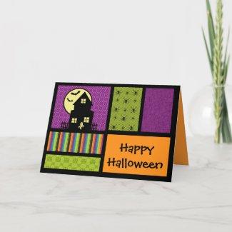 Happy Halloween Scrapbook Style card