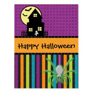 Happy Halloween Scrapbook Style Postcard